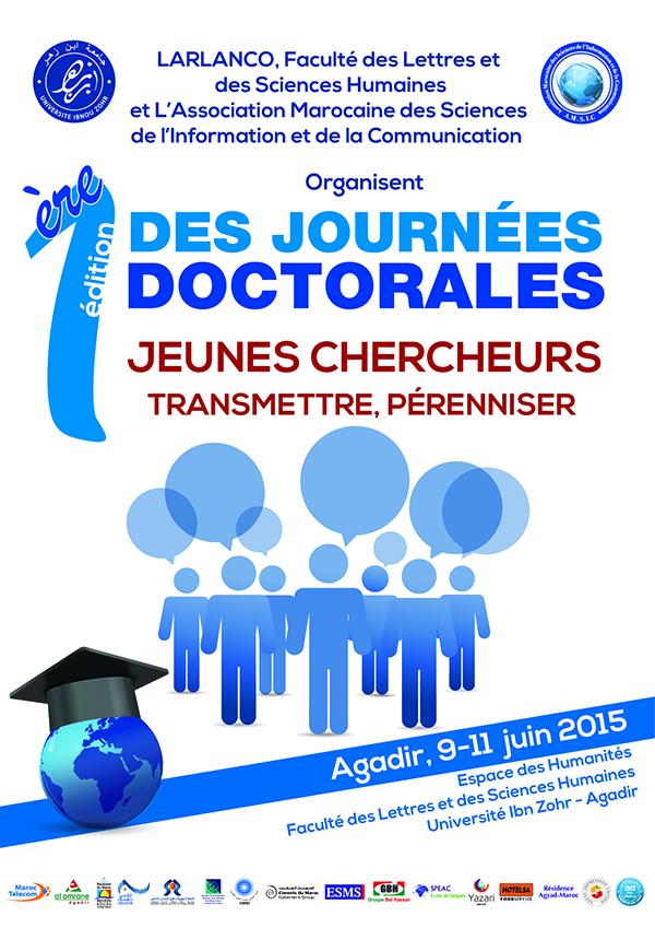1ère édition des journées doctorales : Jeunes chercheurs transmettre, pérenniser