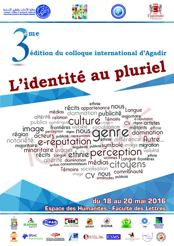 3ème édition colloque international d'Agadir: L'identité au pluriel