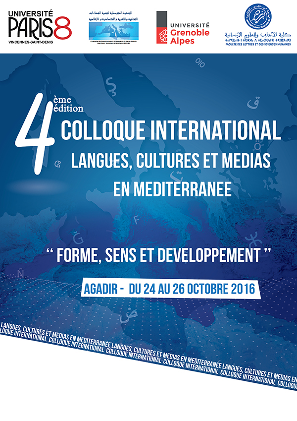 4ème édition colloque international: Langues, cultures et médias en Méditerranée