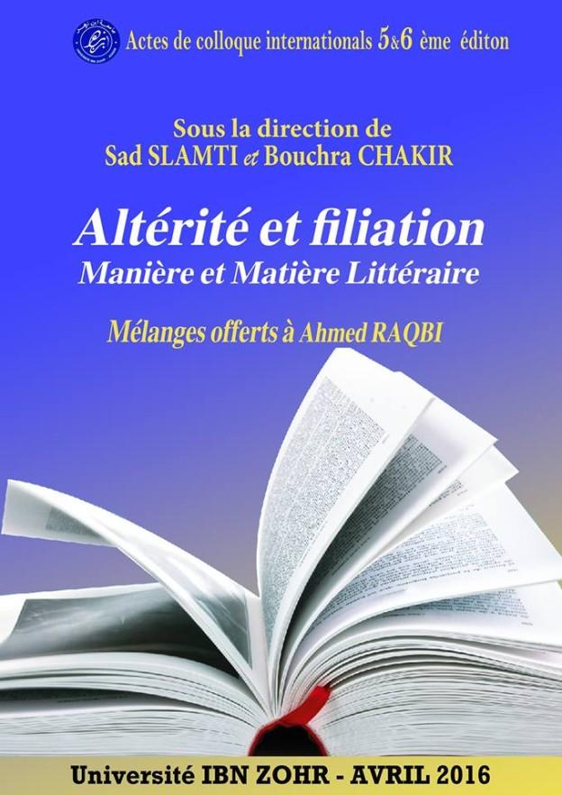Altérité et filiation maniéré et matière littérature